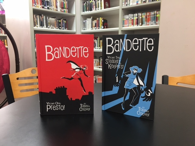 Covers of Bandette 1 and 2
